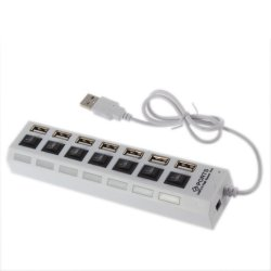 7 Port Slot Tap USB 2.0 Hub Adapter Splitter Power On/Off Switch mit LED Light  für ca 3.03 inkl. Versand @ebay