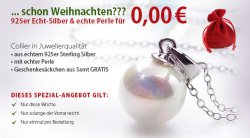 925er Sterling Silber Kette + Echt-Perlenanhänger für 0€ zzgl 4,95€ Versand @silvity