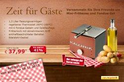 Angebot des Tages, Design Friteusse & Fondue für 37,99 (statt 64,99 €) bei Netto Online Shop