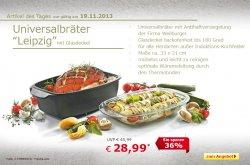 Angebot des Tages, Universalbräter mit Glasdeckel für nur 28,99 €uro @ Netto Online Shop