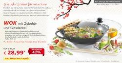Angebot des Tages: Wok mit Zubehör und Glasdeckel für 28,99 €uro (statt 49,99 €) @ Netto Online Shop