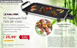 XL Teppanyaki Grill TKG GR 1000 für 25,99 (UVP 44,99 €) @ Netto Onlin Shop