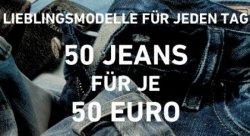Bei dress-for-less: 50 Jeans, je für 50 Euro – nur heute! (Tommy Hilfiger, Pepe Jeans…)