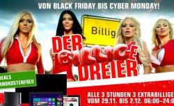 Bei redcoon.de: Black Friday bis Cyber Monday – alle 3 Stunden 3 Extrabillige Angebote