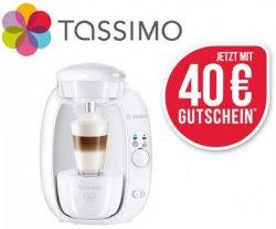 Bei Schwab.de: Bosch Kapselmaschine TASSIMO T20 + 40 Euro Kapsel-Gutschein für nur 29,99€ mit Gutschein