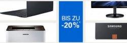 Bis zu 20 % Rabatt auf Samsung-Elektronik @eBay, z.B. Samsung S24C350H 24″ LED-Monitor 20€ günstiger als bei Idealo