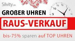 bis zu 75% auf ausgewählte Damen und Herrenuhren + 5€ Gutschein @silvity.de