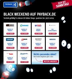 Black Weekend auf Payback, Extra punkten auf Technik, nur bis Sonntag