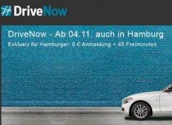 DriveNow Einführung in Hamburg – nur bis Freitag diese Woche für die Anmeldung 29€ sparen + 40 Freiminuten