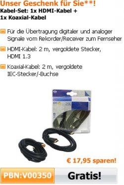 ELV: nun auch Gratisartikel zur Bestellung – Kabelset HDMI + Koaxialkabel im Wert von 17,95€ ab 25€ MBW