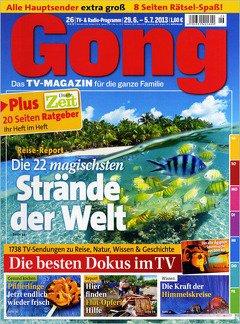 Gong TV Zeitschrift 52x effektiv kostenlos durch 100€ Gutschein Gutschein (Amazon, MediaMarkt, Zalando u.v.m.)