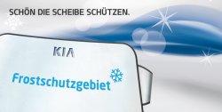 Gratis Frostschutzfolie für die Windschutzscheibe @Kia