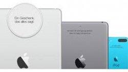 Gratis Gravur für iPads & iPods@Apple Store