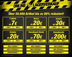 Grosses Online Lagerverkauf bis zu 80% nur bis 10.11.2013 @planet-sports.de