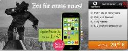 iPhone 5C für 1€ mit Vodafone Allnet Flat für mtl. 29,99 €  (statt 44,99€) @handyflash