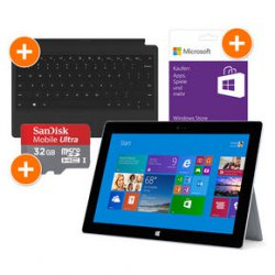 Microsoft Surface 2 32GB inkl. Surface Type Cover 2, 32GB mit Zubehör siehe Text statt 618.98€ nur 444€zzgl.Versandkosten @notebookbilliger.de