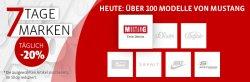 Mirapodo 7 Tage Sale – Jeden Tag eine andere Marke 20% im Preis gesenkt.