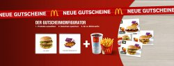 NEu McDonalds Gutschein Konfigurator @mcdonalds.de