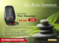Neues Eröffnungsangebot @ Netto-Online Shop, Happyfeet Thai Massage 64,99€uro (Ideaol 89,38 €)