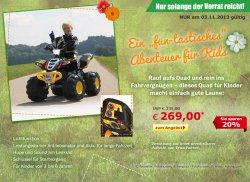 Neues Eröffnungsangebot @ Netto-Online Shop, Kinder -Quad für 269 €uro (UVP 339 €)