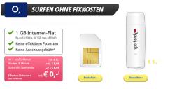 o2 1GB Internet Flat für effektiv 0 € / Monat – Sparhandy.de