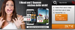 o2 Blue All-in M inkl 1GB LTE+Samsung Galaxy S4 für 0€ zu 29,99 mtl.@handyflash.de
