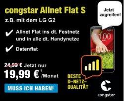 Original Congstar Allnet Flat S für 19,99€ statt 24,99€ monatlich – inkl. 500 MB Internet