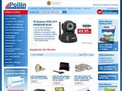 Pollin: jetzt Versandkostenfrei bestellen 25€ MBW mit Gutscheincode