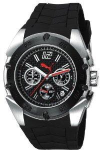 Puma Herren-Armbanduhr XL Crash Silver Chronograph statt 135€ nur 56,33€@amazon.de
