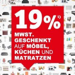 [Lokal] Räumungsverkauf – 19% MwSt geschenkt auf Möbel, Küchen und Matratzen! @XXXL