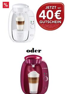 Schwaab: Bosch TASSIMO T20 inc. Versand und 40€ Tassimo Gutschein nur 36,94€