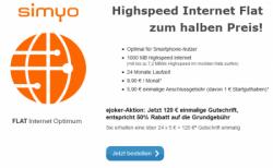 Simyo Internet-Flat Optimum mit 1GB für 5,15€ mtl.! @eJoker.de