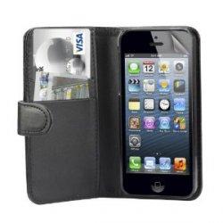 Stillvoll Buchstil Imitat Ledertasche Hülle für iPhone 5 (schwarz) für 3,01€inkl.Versand@amazon.de