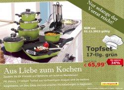 Tages-Deal im Netto-Online-Shop: 17-teiliges Topfset für 65,99 €uro (statt 99,99 €uro)