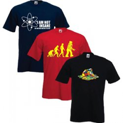 The Big Bang Theory Triple Pack T-Shirts von 39,99€ auf 19,99€ gesenkt @Play.com