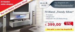 TV Wand Trendy Silver für nur 399 €uro statt 765 €uro @Netto Online-Shop, nur noch heute