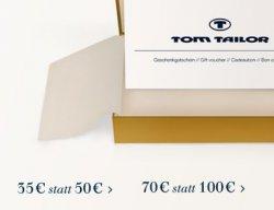 Wahnsinn – bis zu 60 Euro Geschenk bei z.B. 140 Euro Einkaufswert auf Tom-Tailor.de Gutscheine – nur HEUTE