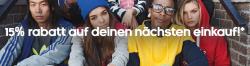15% Rabatt Gutschein für Newsletteranmeldung @Adidas