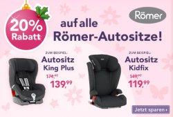 20% Rabatt auf alle Römer Autositze @ ToysRus