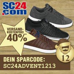 40% + versandkostenfreie Lieferung auf K-Swiss Sneaker @SC24.com