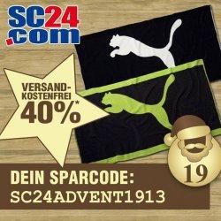 40% + versandkostenfreie Lieferung auf Puma Handtücher @SC24.com bzw. über Facebook