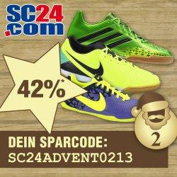 42% auf Hallenfussballschuhe von adidas, Nike… bei SC24.com