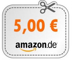 5€ Gutschein für Amazon – MBW 25€ + 40€ Startguthaben auf die Amazon Kreditkarte