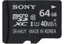 64GB SONY SR64UYA microSDXC Karte für 37,00€ (Idealo 53,99€) @Saturn