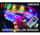 5m RGB LED-Strip Leiste mit Fernbedienung & Netzteil für 22,31€ @eBay + kostenloser Versand