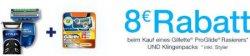 Amazon: 8 € Rabatt beim Kauf von Gillette Fusion ProGlide Rasierer und Klingen