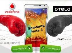 Bei Modeo.de: MadFriday Deal: Samsung Note 3 mit Vodafone oder otelo Flat ab nur 24,99€ im Monat