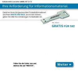 Bose USB Stick ? GB gratis @bose-direkt.de