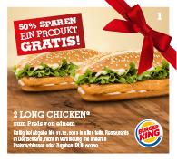 Burger King Sparscheine bis zu 50% Rabatt gültig bis zum 10.01.2014