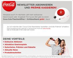 Coca Cola Flaschenöffner + Schlüsselband dazu kostenlos @meincokebonus